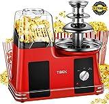 Schokoladenbrunnen mit Popcornmaschine, einfache...